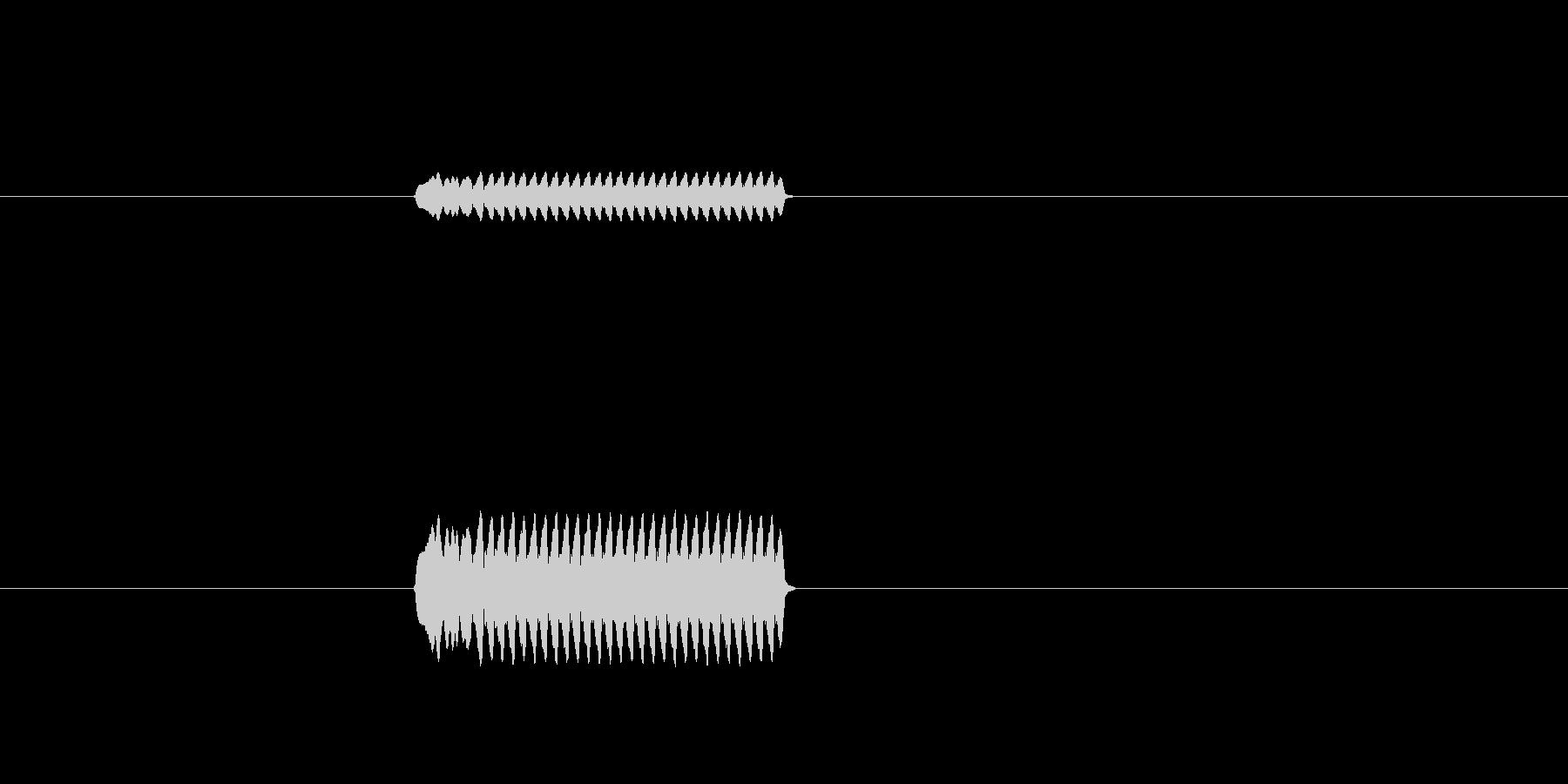 ビーッ(ホイッスル、警笛の音)の未再生の波形