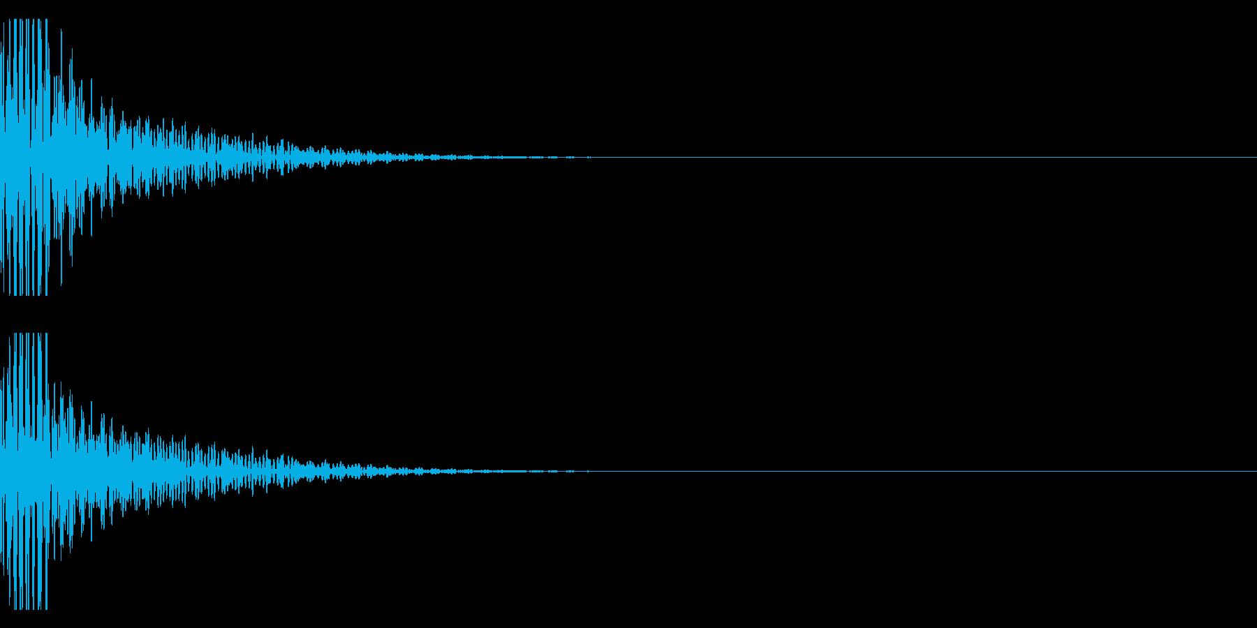クリエイター様向け!EDMバスドラム1Bの再生済みの波形