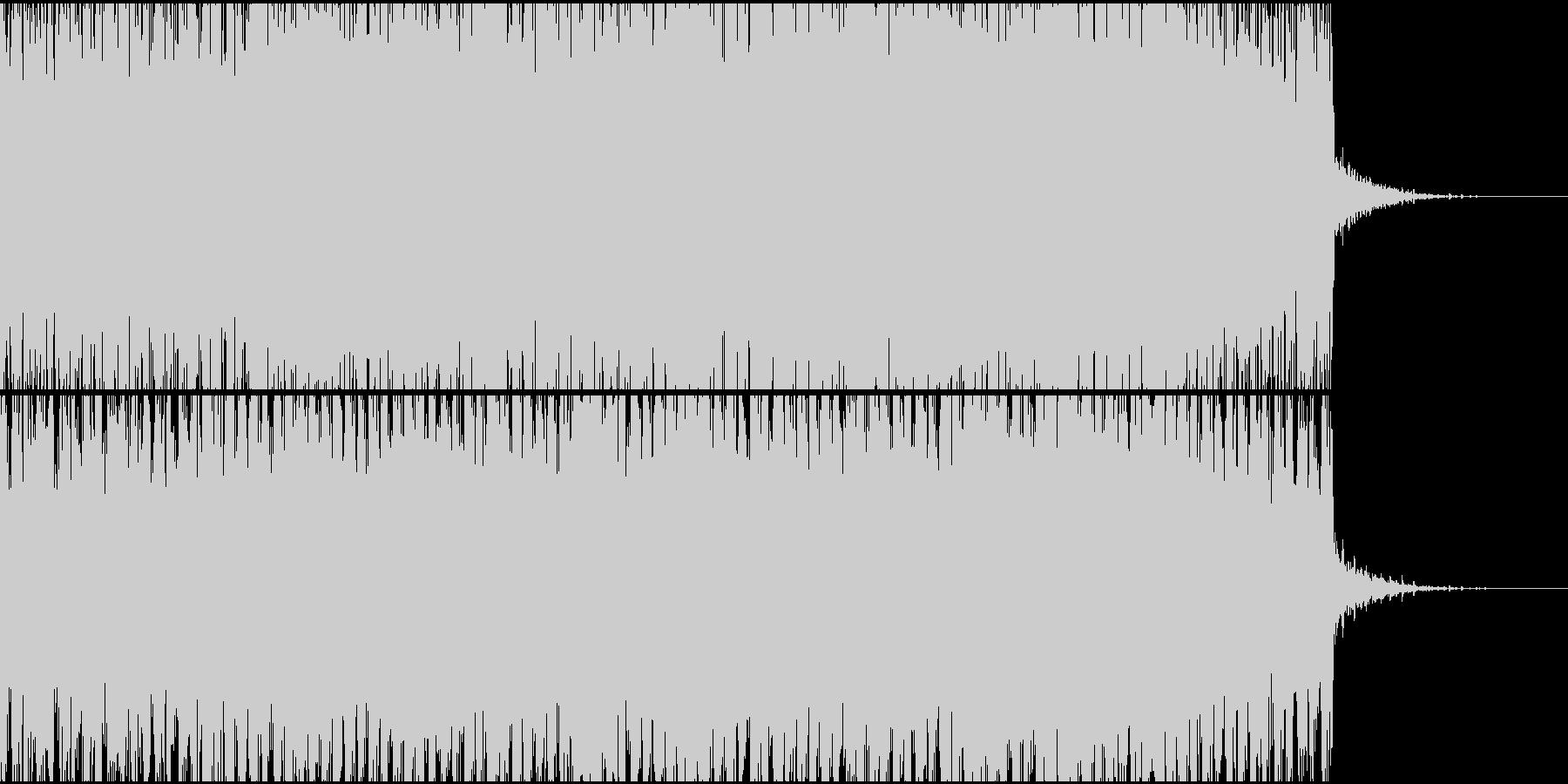 シンセ音が上昇していく高揚感あるトランスの未再生の波形