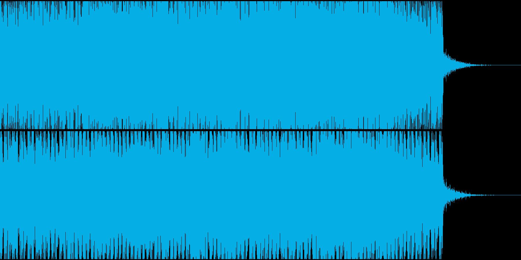シンセ音が上昇していく高揚感あるトランスの再生済みの波形
