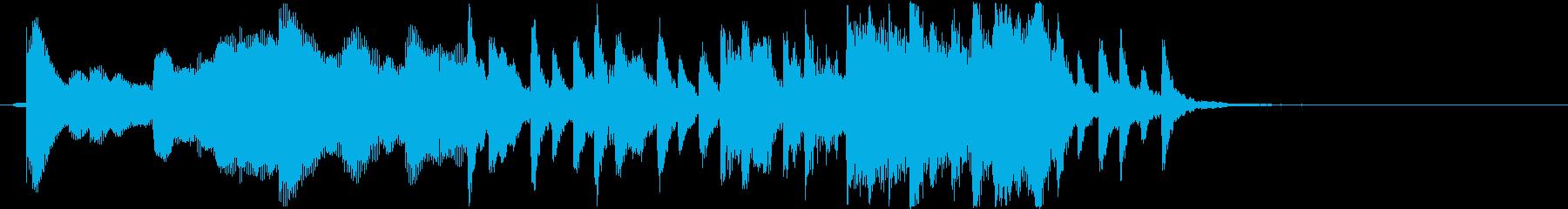マリンバとストリングスの優しいジングルの再生済みの波形