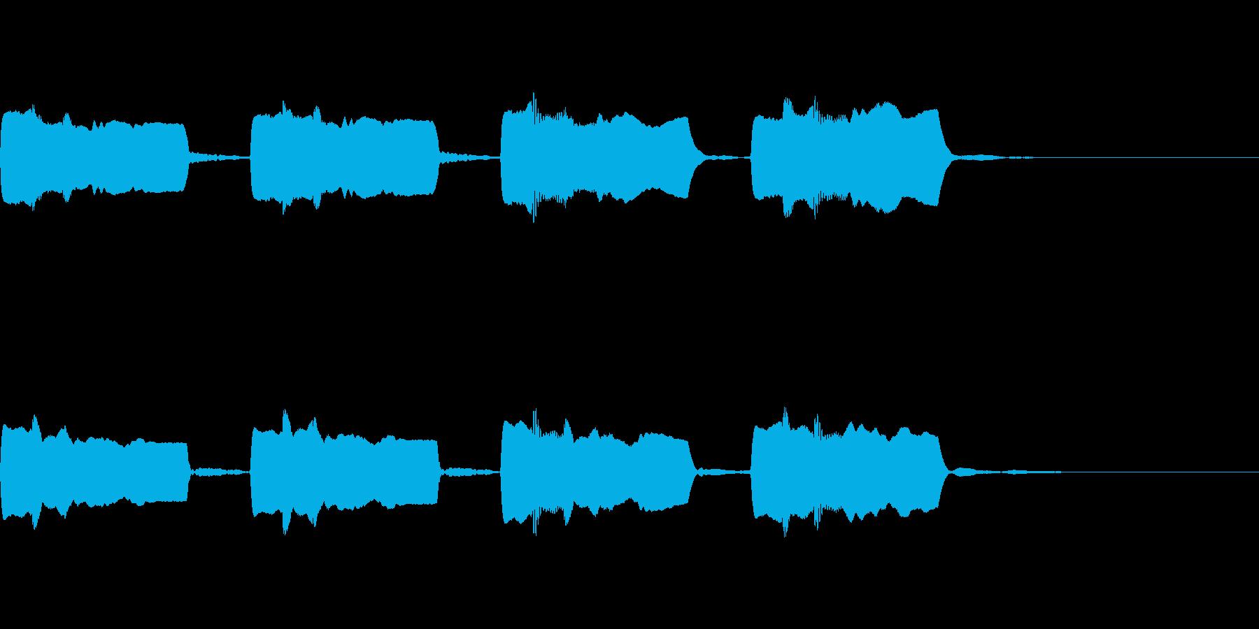 森に響くオカリナの再生済みの波形