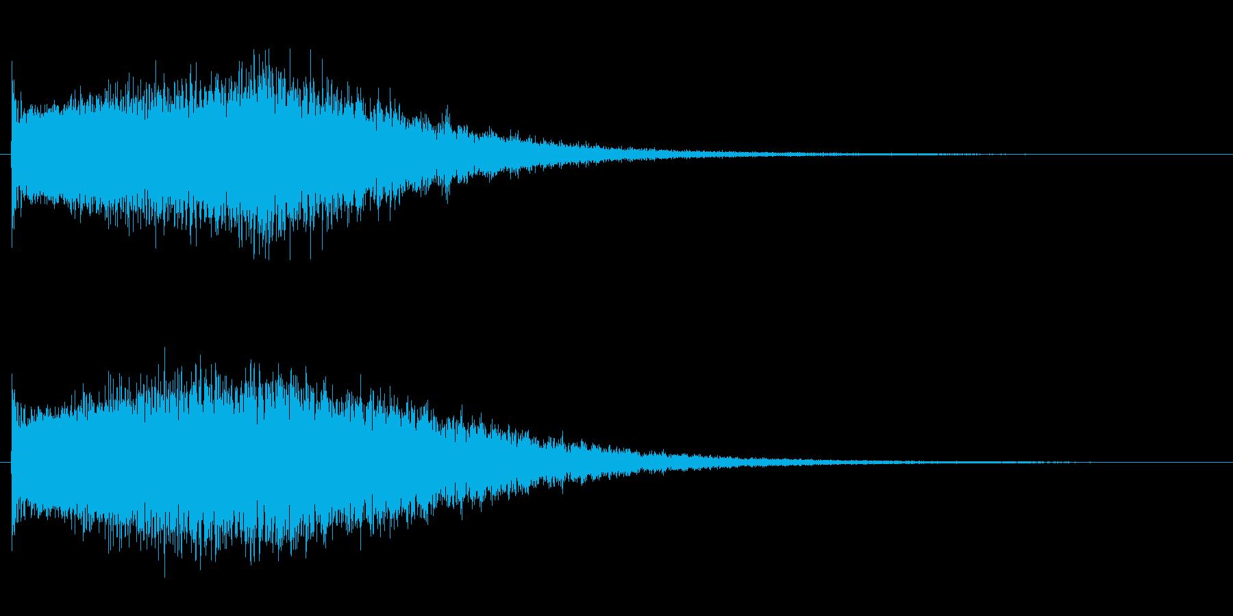 オリジナルの効果音_落下_ピュイーンの再生済みの波形
