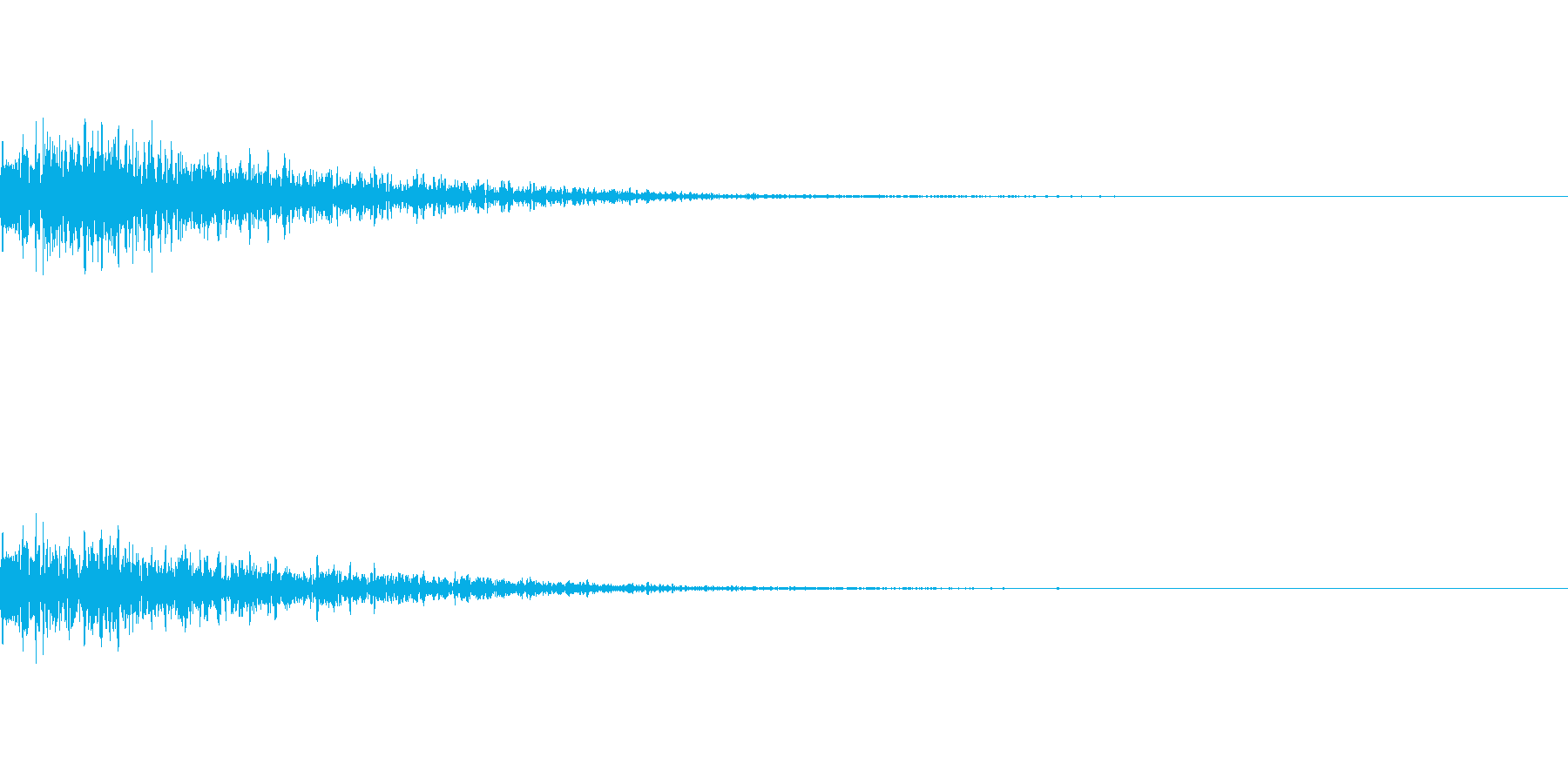爆発、衝撃などの音になりますの再生済みの波形
