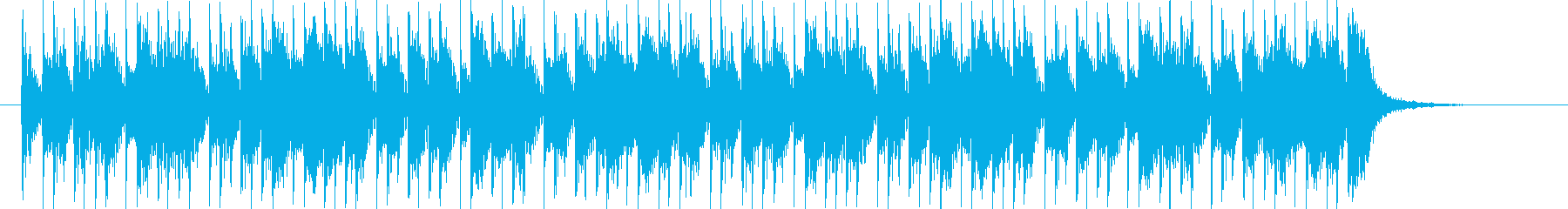 躍動感あるクールなビートシンセジングルの再生済みの波形