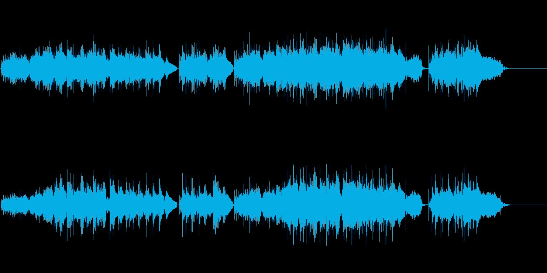 ギターデュオとストリングスによるフォークの再生済みの波形