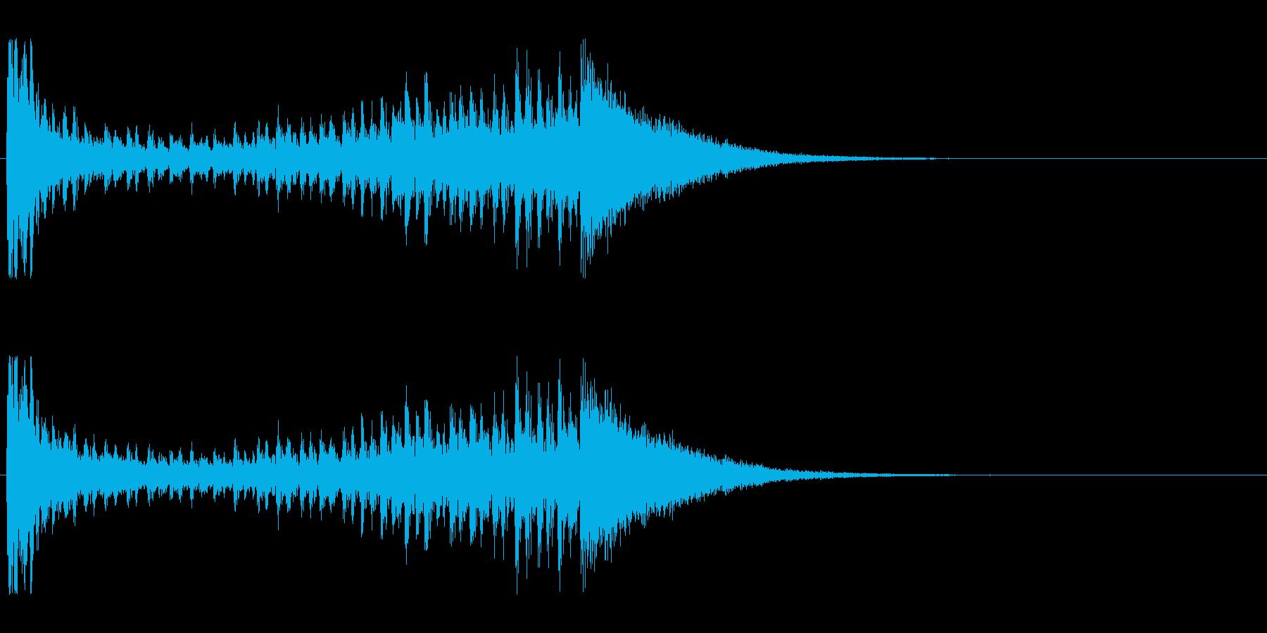 【結果発表01-2】の再生済みの波形