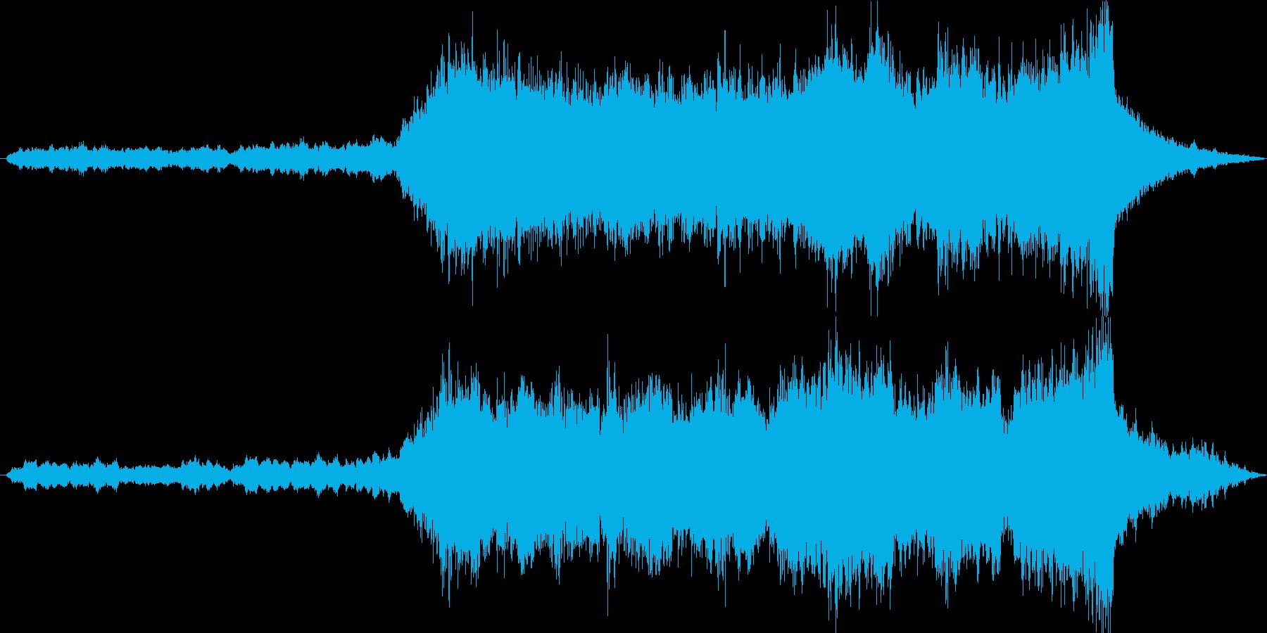 和風の壮大なオーケストラの再生済みの波形