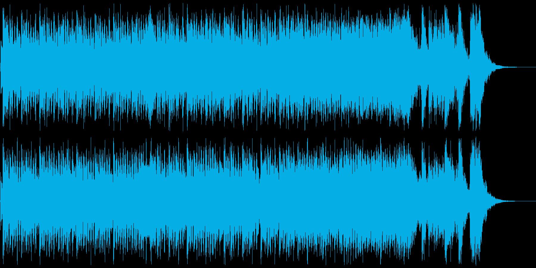 緊張感を高めるハリウッド系オーケストラの再生済みの波形