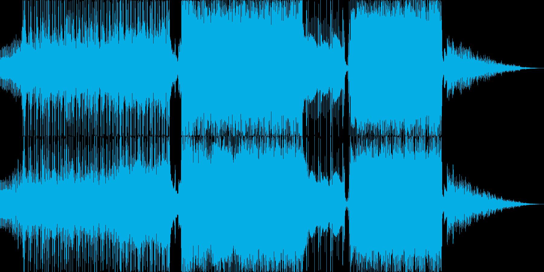 ロック パワフルで切な目のバラードの再生済みの波形