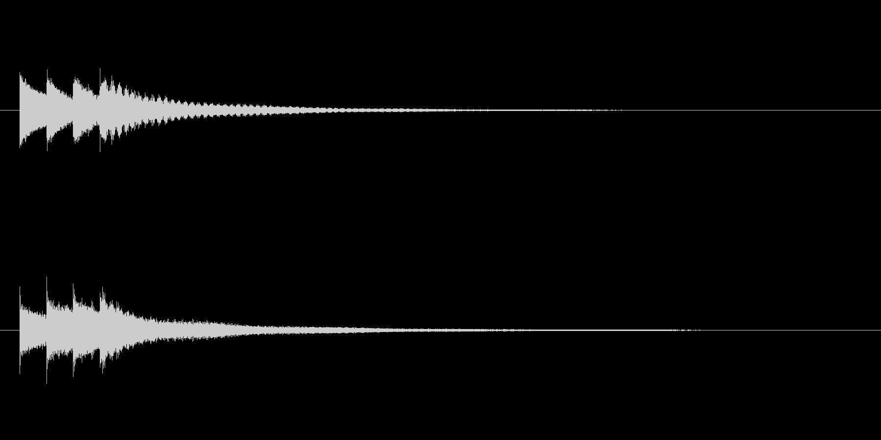 キラキラーン/クロタル(鐘)キラキラ音の未再生の波形
