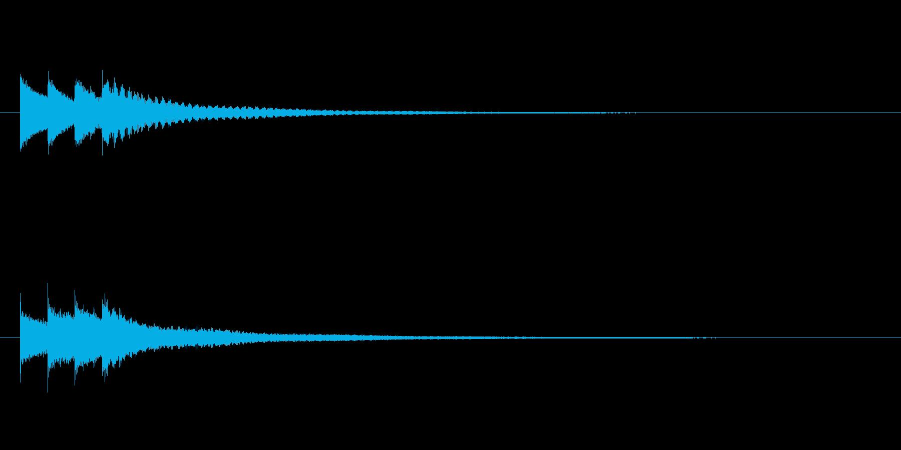 キラキラーン/クロタル(鐘)キラキラ音の再生済みの波形