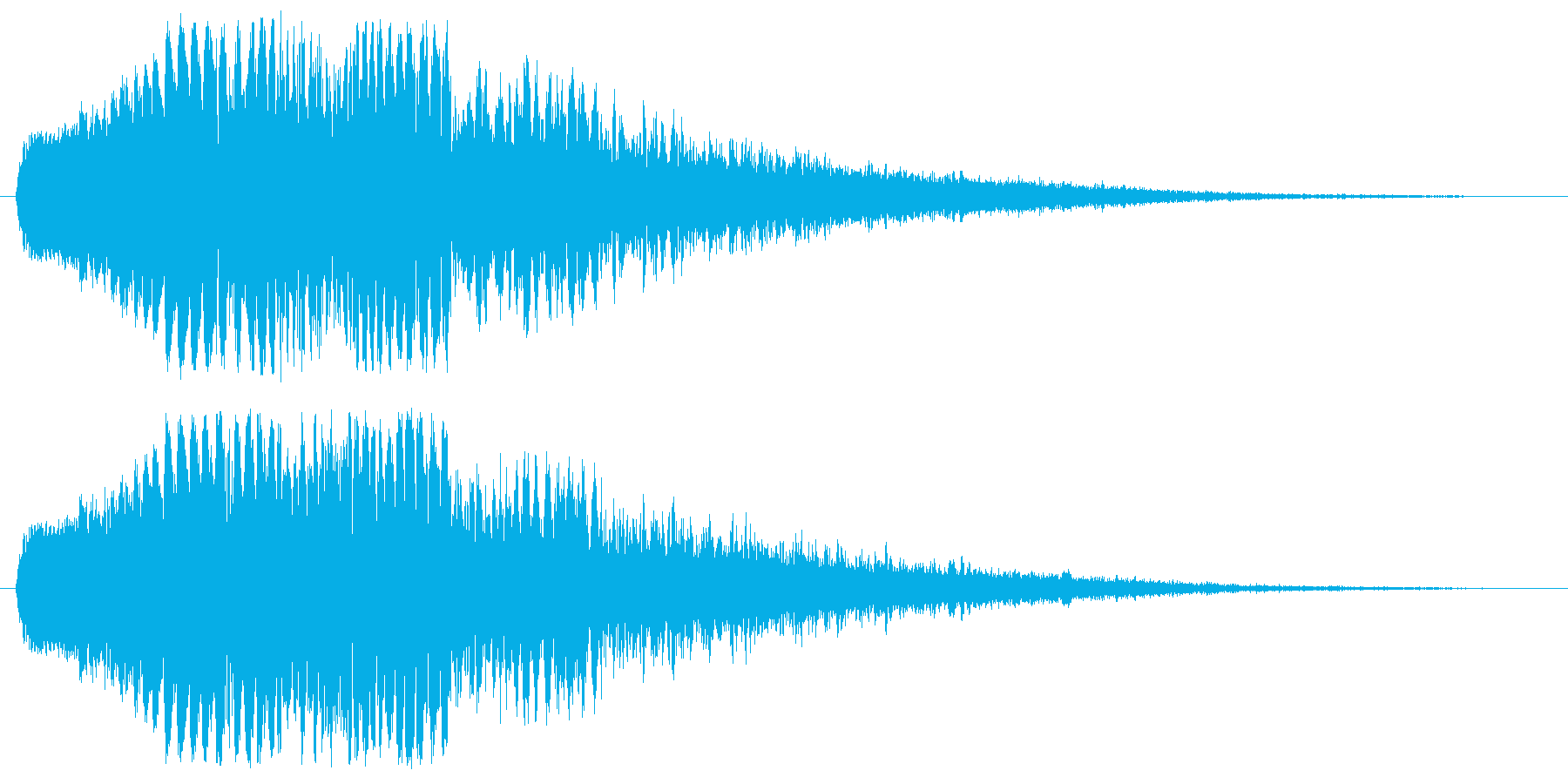 レーザービーム・電撃などの衝撃1の再生済みの波形