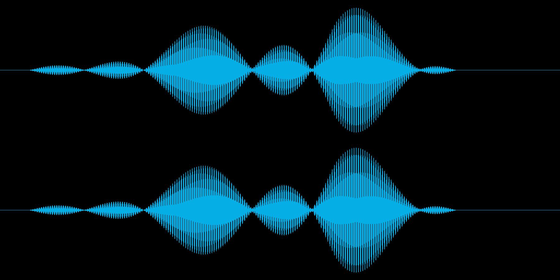 カーソル移動音8の再生済みの波形
