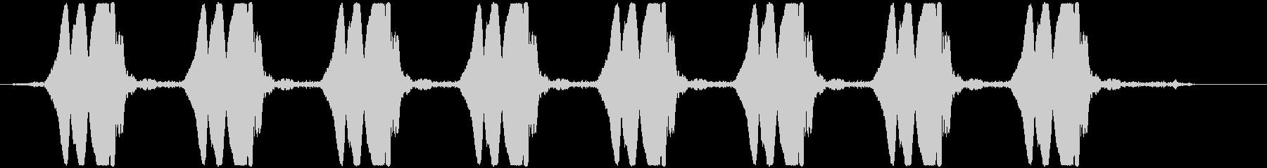 ヒヨヒヨヒヨ……  自主規制音(ピー音)の未再生の波形