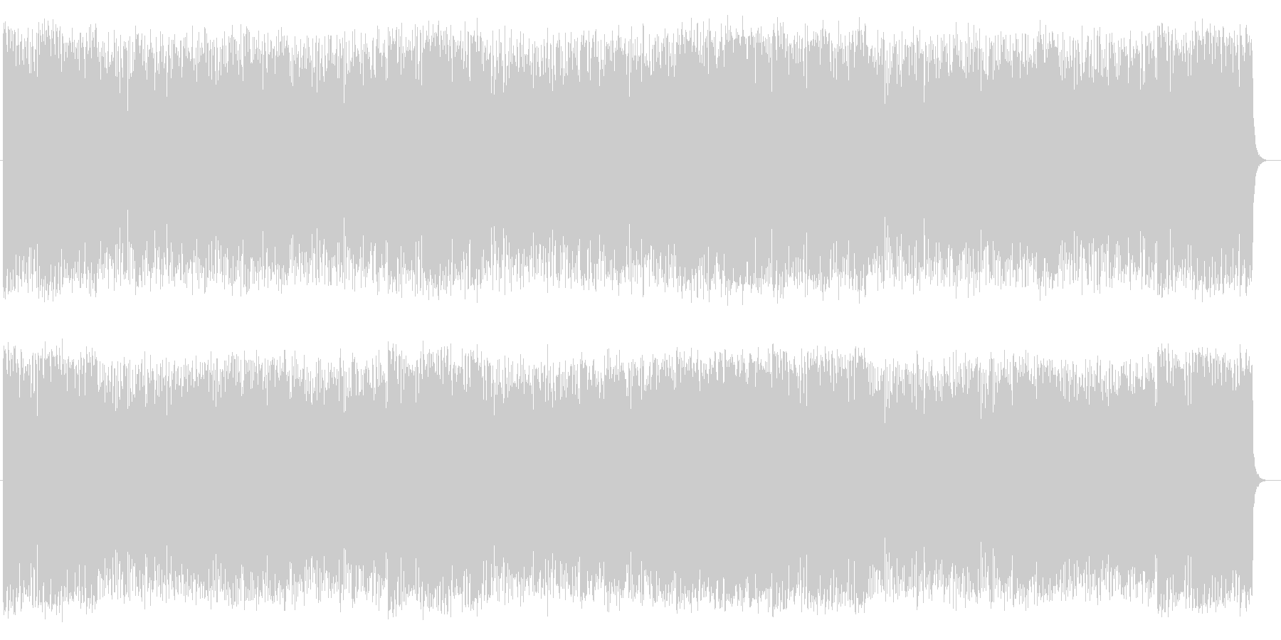 爽快な印象のピアノポップスの未再生の波形