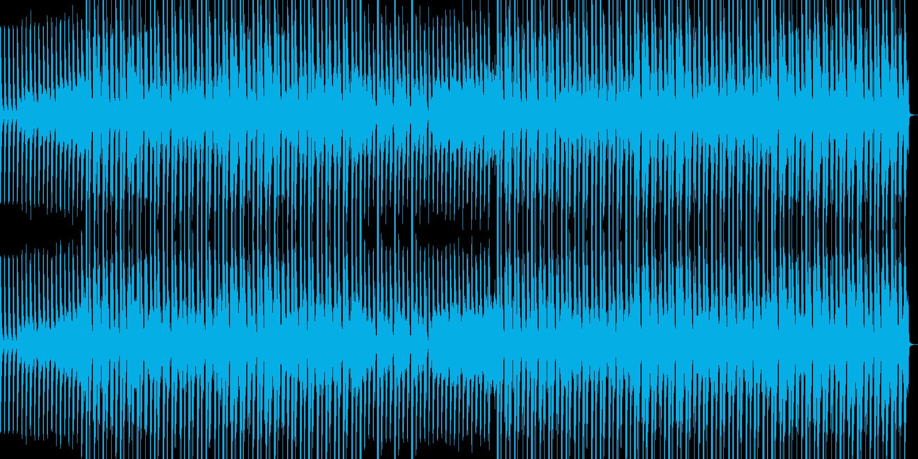 ミディアムテンポな和風ポップスの再生済みの波形