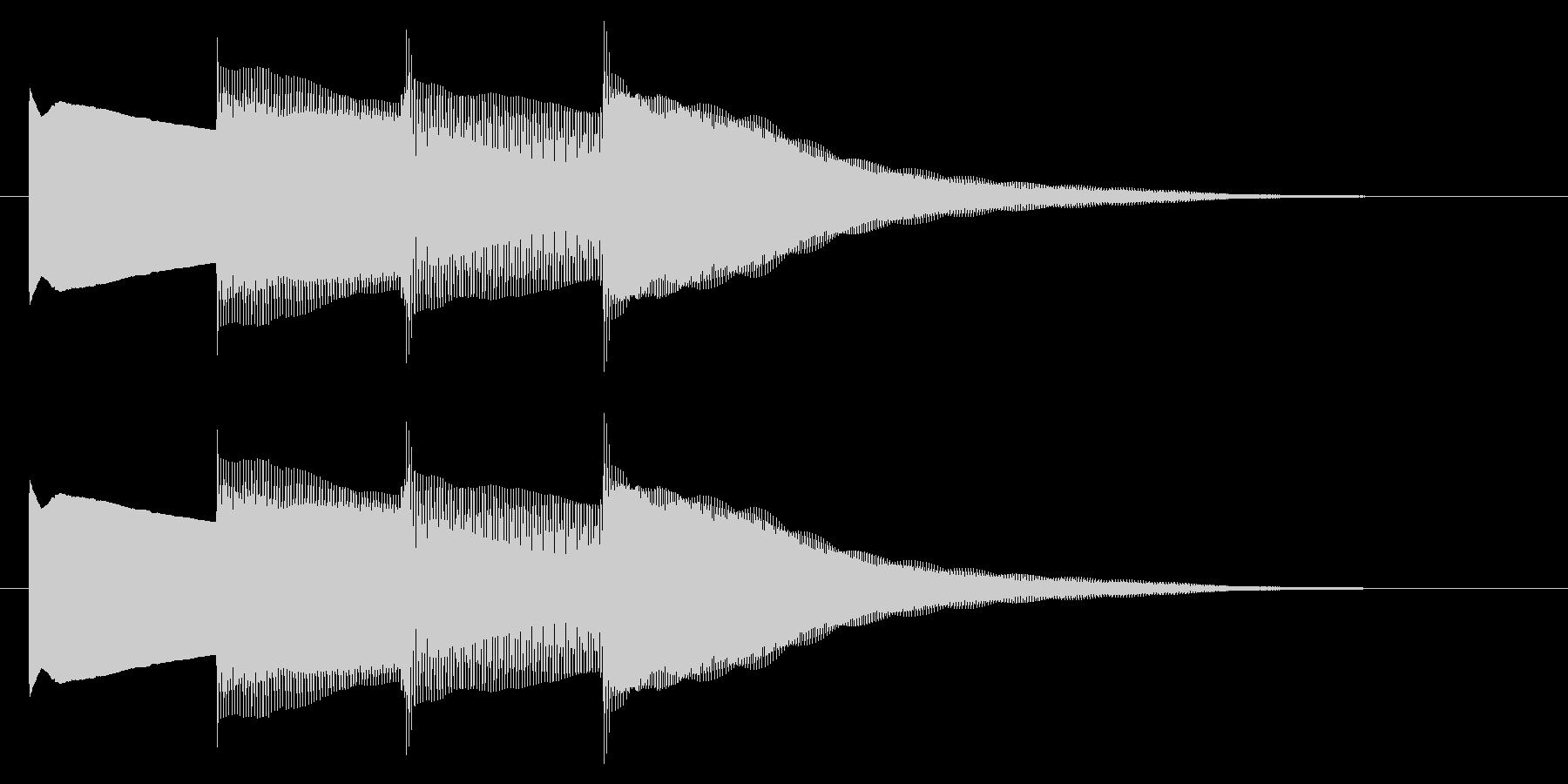 チャイム アナウンス07-1の未再生の波形