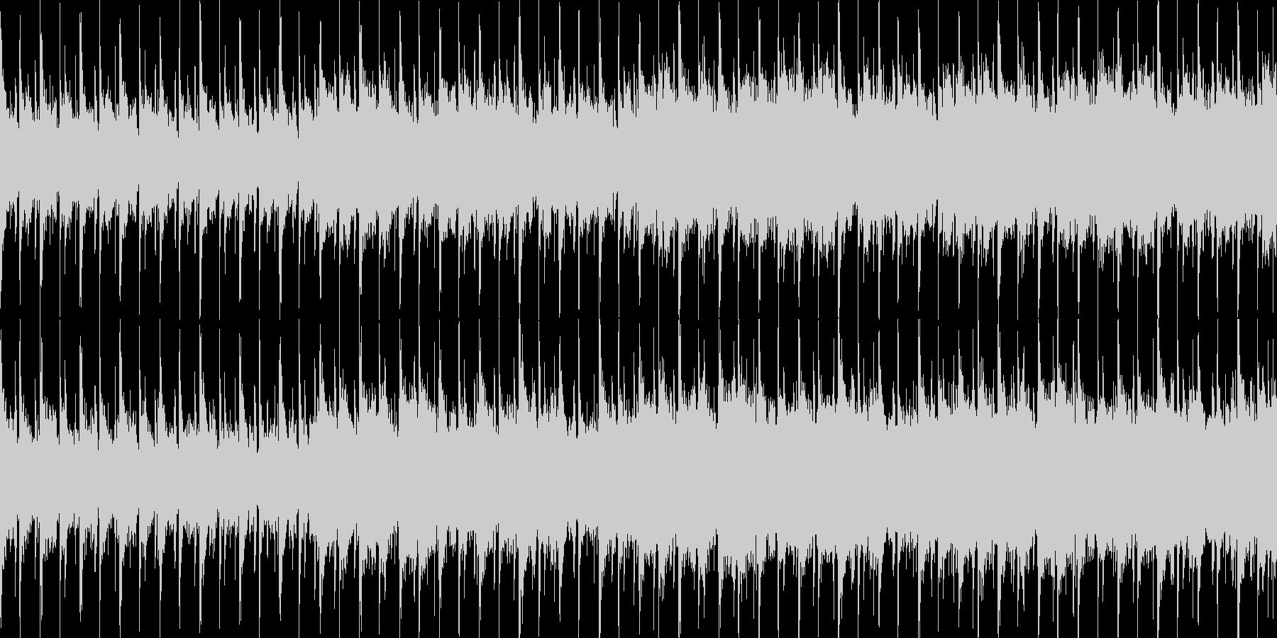 ピアノが幻想的で森の中の様な優しいBGMの未再生の波形