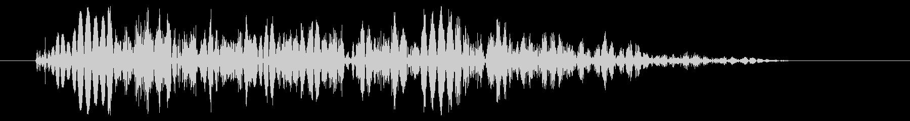 強キック 打撃音 02Hの未再生の波形
