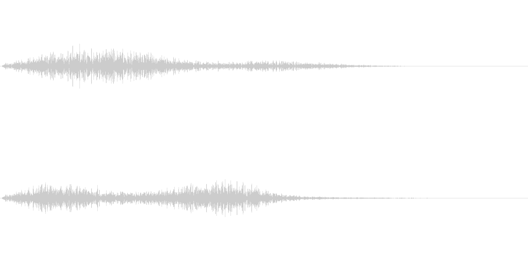 ひゅー(怪しい雰囲気の音)の未再生の波形
