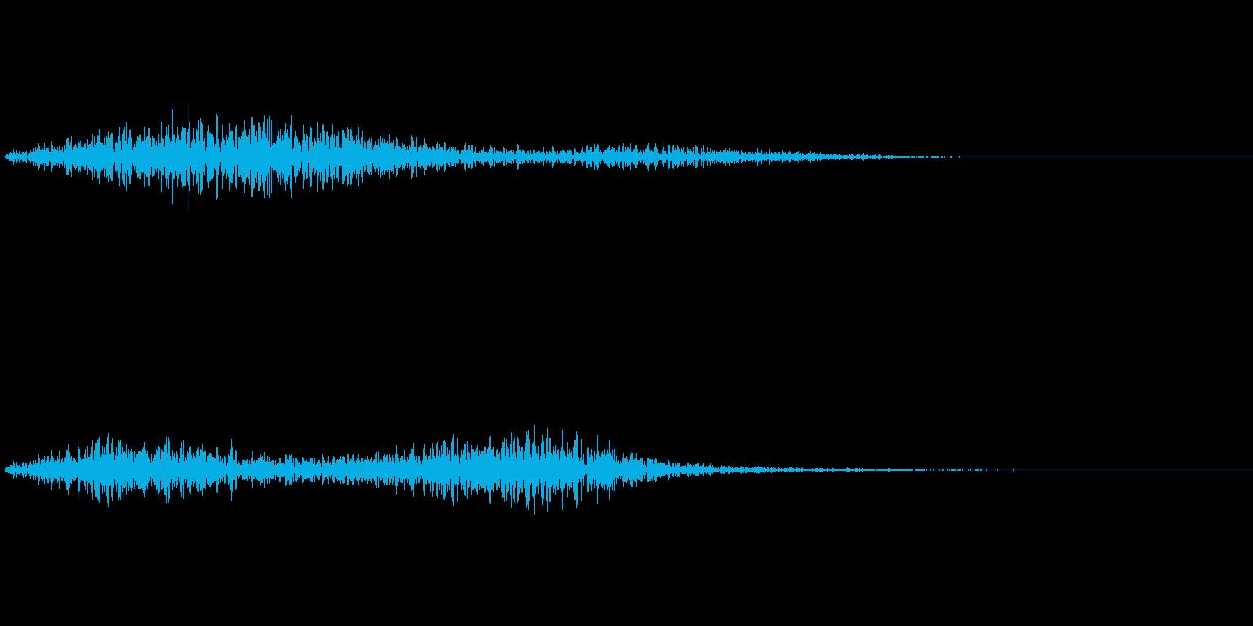 ひゅー(怪しい雰囲気の音)の再生済みの波形