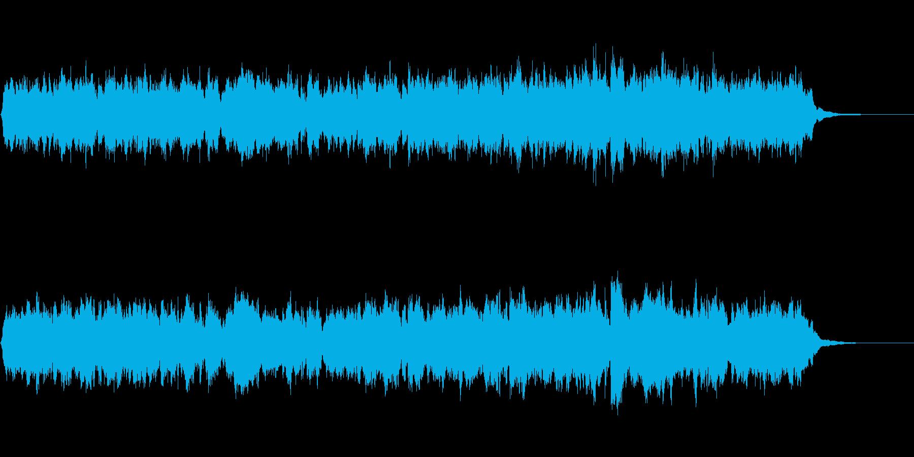 映像用の軽い弦アレンジの小曲の再生済みの波形