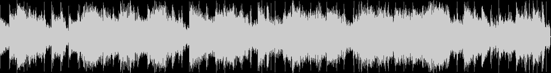 リズムとベースが絡み合うシンセサウンド…の未再生の波形