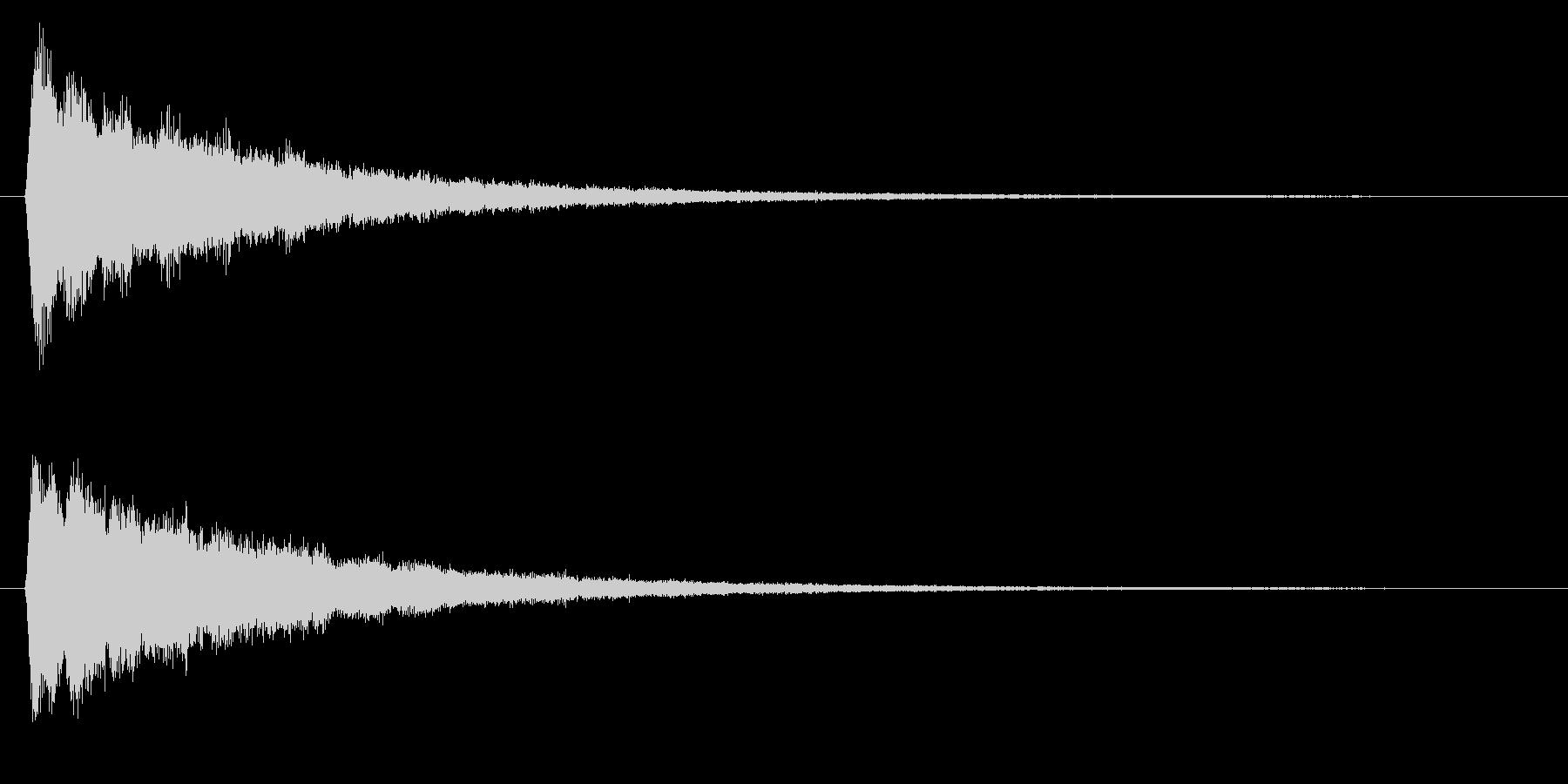 決定/電子音/スタートの未再生の波形