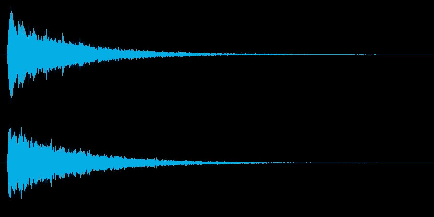 決定/電子音/スタートの再生済みの波形