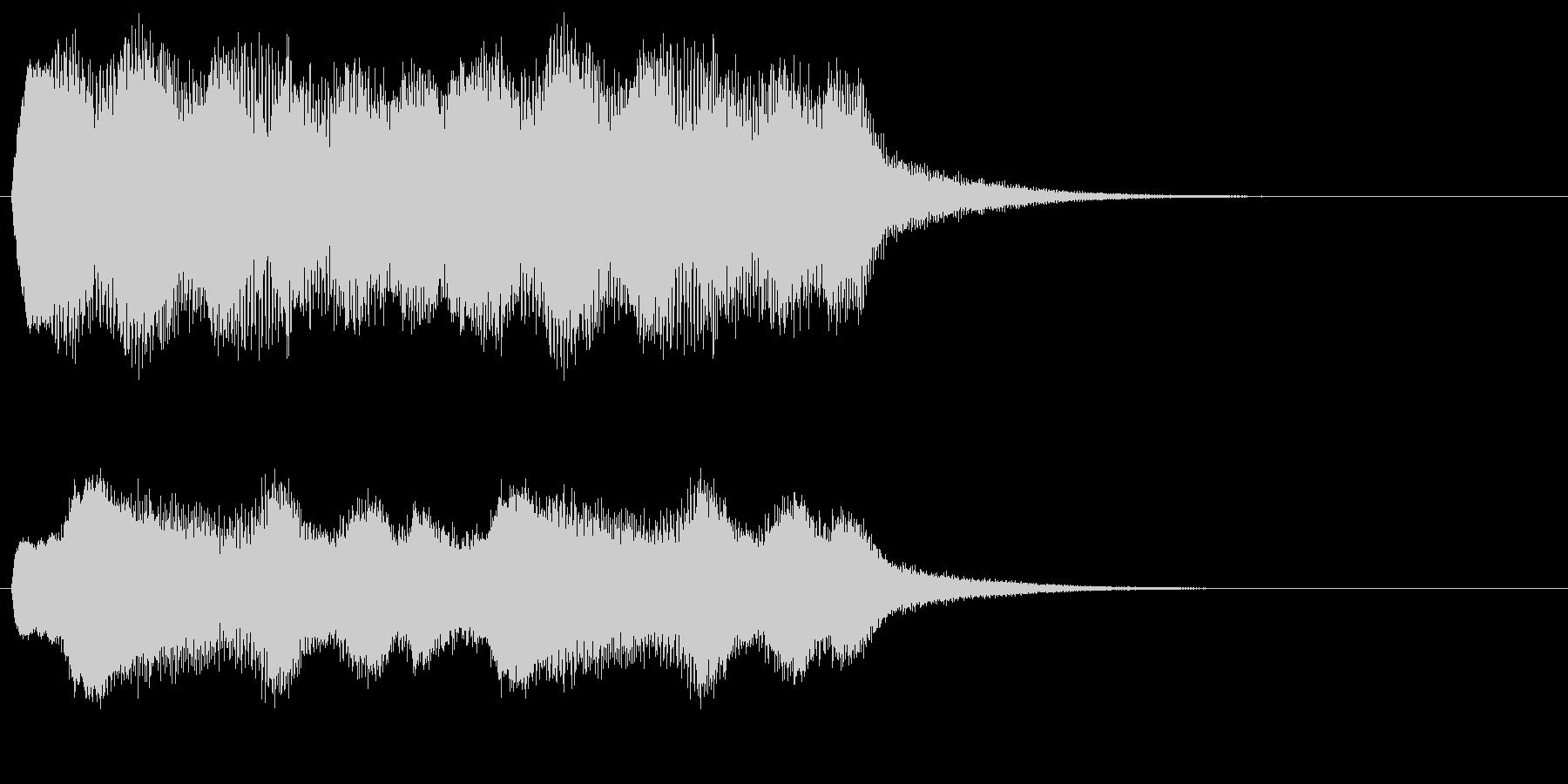 ラヴェル作曲「夜蛾」冒頭による警告効果音の未再生の波形