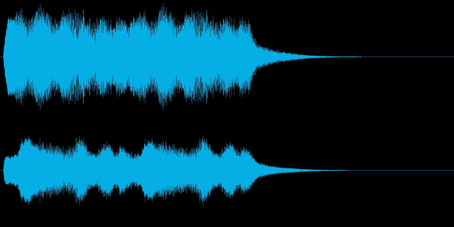 ラヴェル作曲「夜蛾」冒頭による警告効果音の再生済みの波形