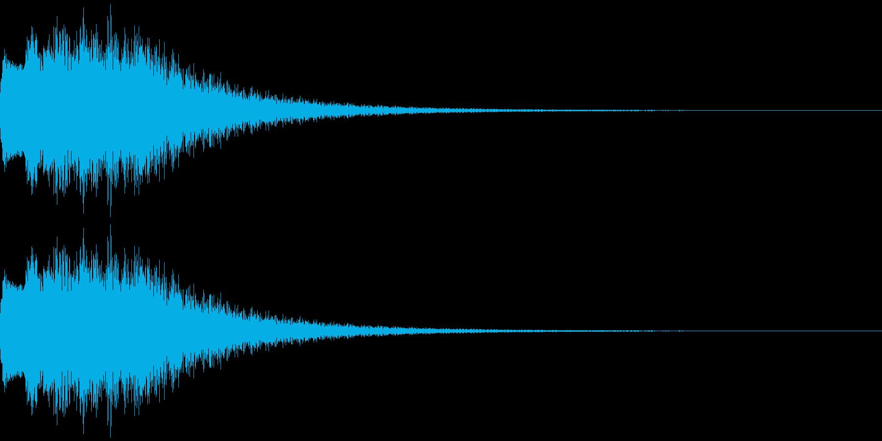 FM音源で作ったベル音の再生済みの波形