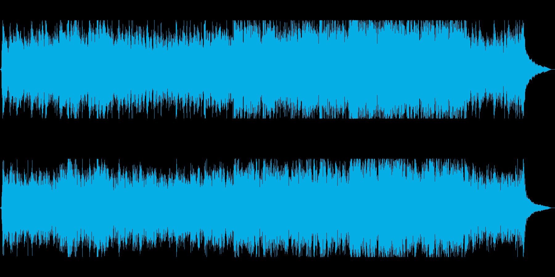 雄大な自然がテーマのオープニング曲の再生済みの波形