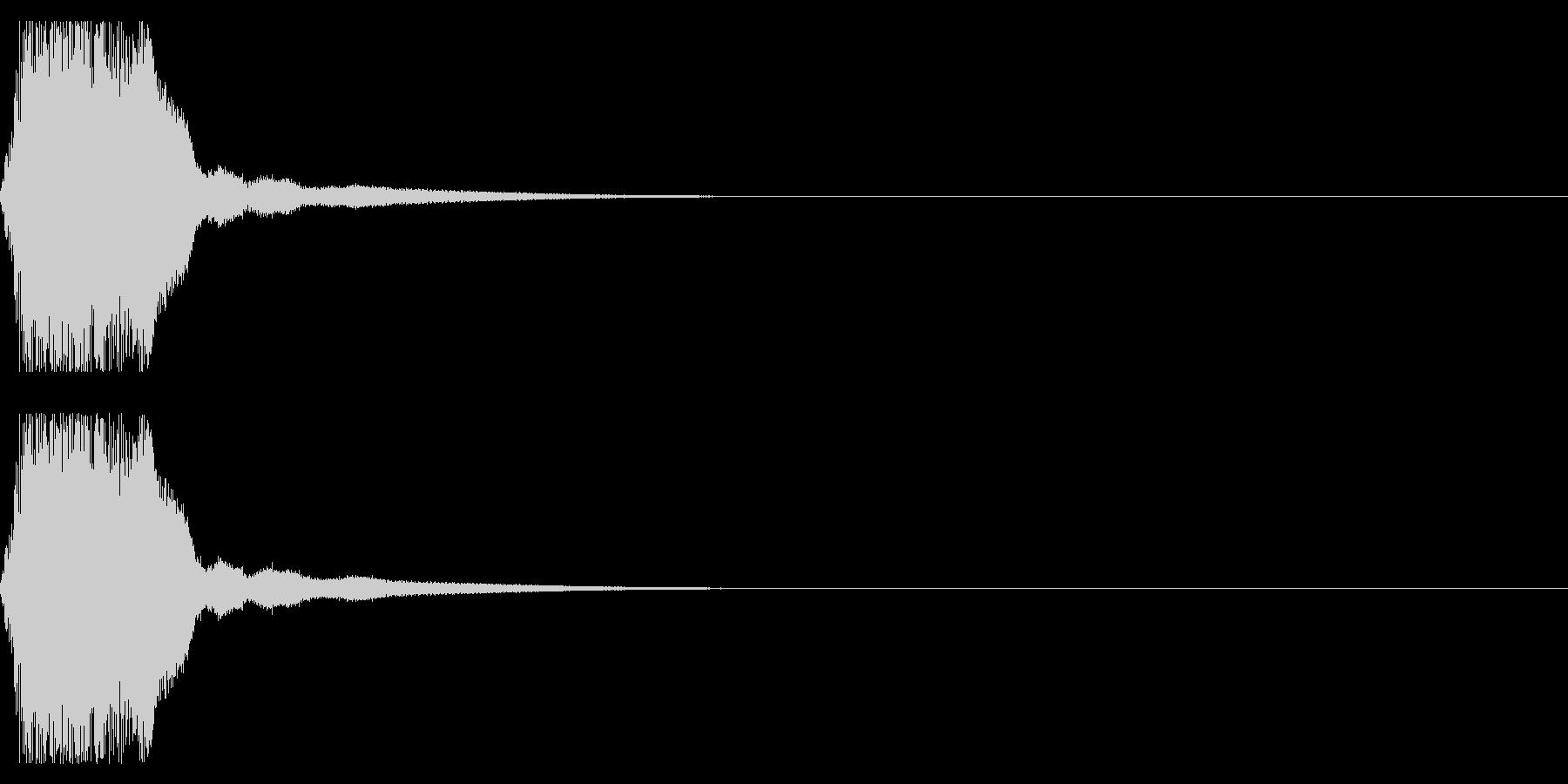 剣や刀01(シャキーン)の未再生の波形