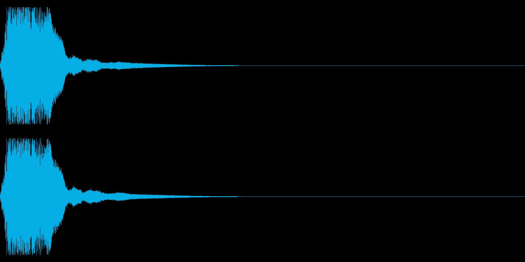 剣や刀01(シャキーン)の再生済みの波形