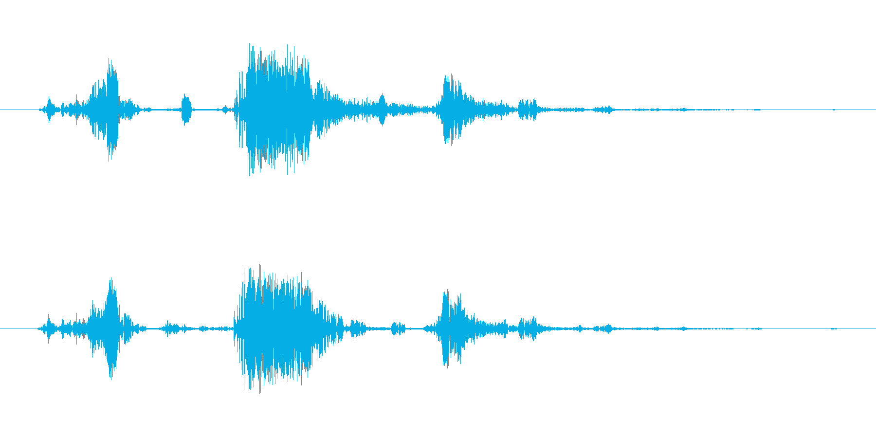 スライムの攻撃の再生済みの波形