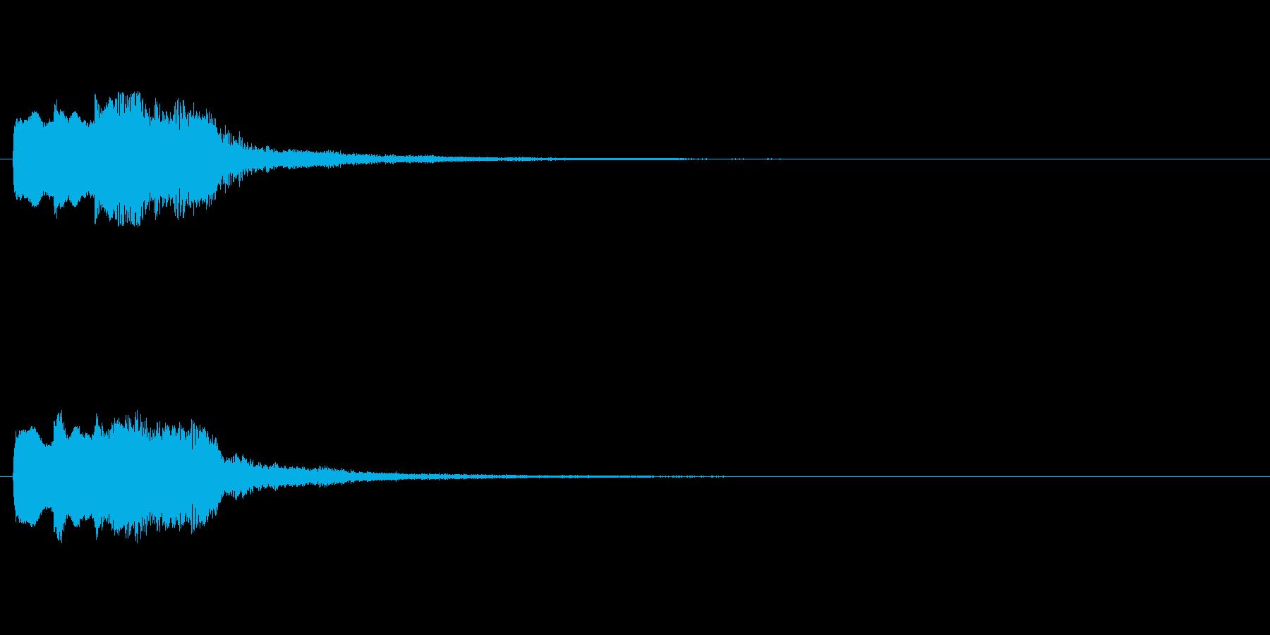 【チャイム 注意02-up】の再生済みの波形