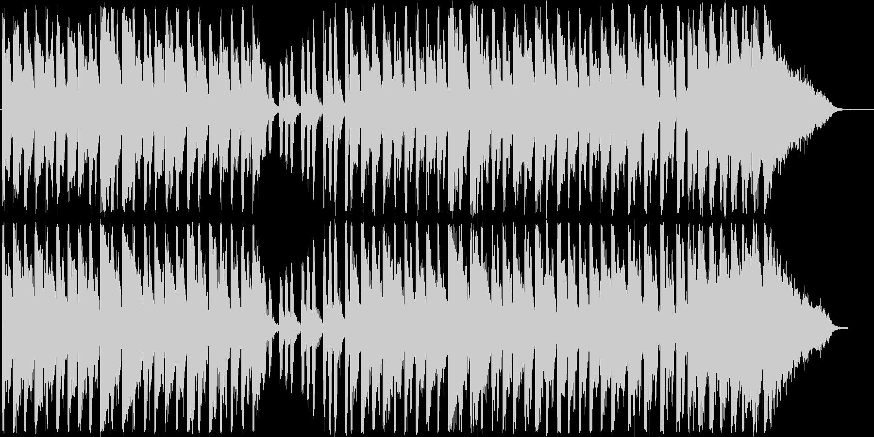 メルヘンで元気が出る軽快なシンセサイザーの未再生の波形