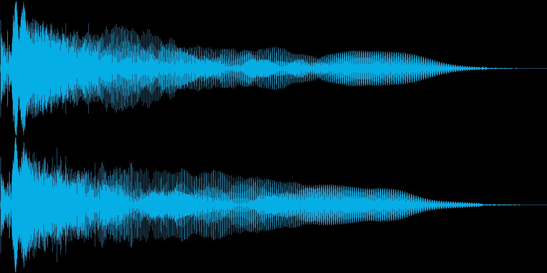 Game シンプルな攻撃音 打撃音の再生済みの波形