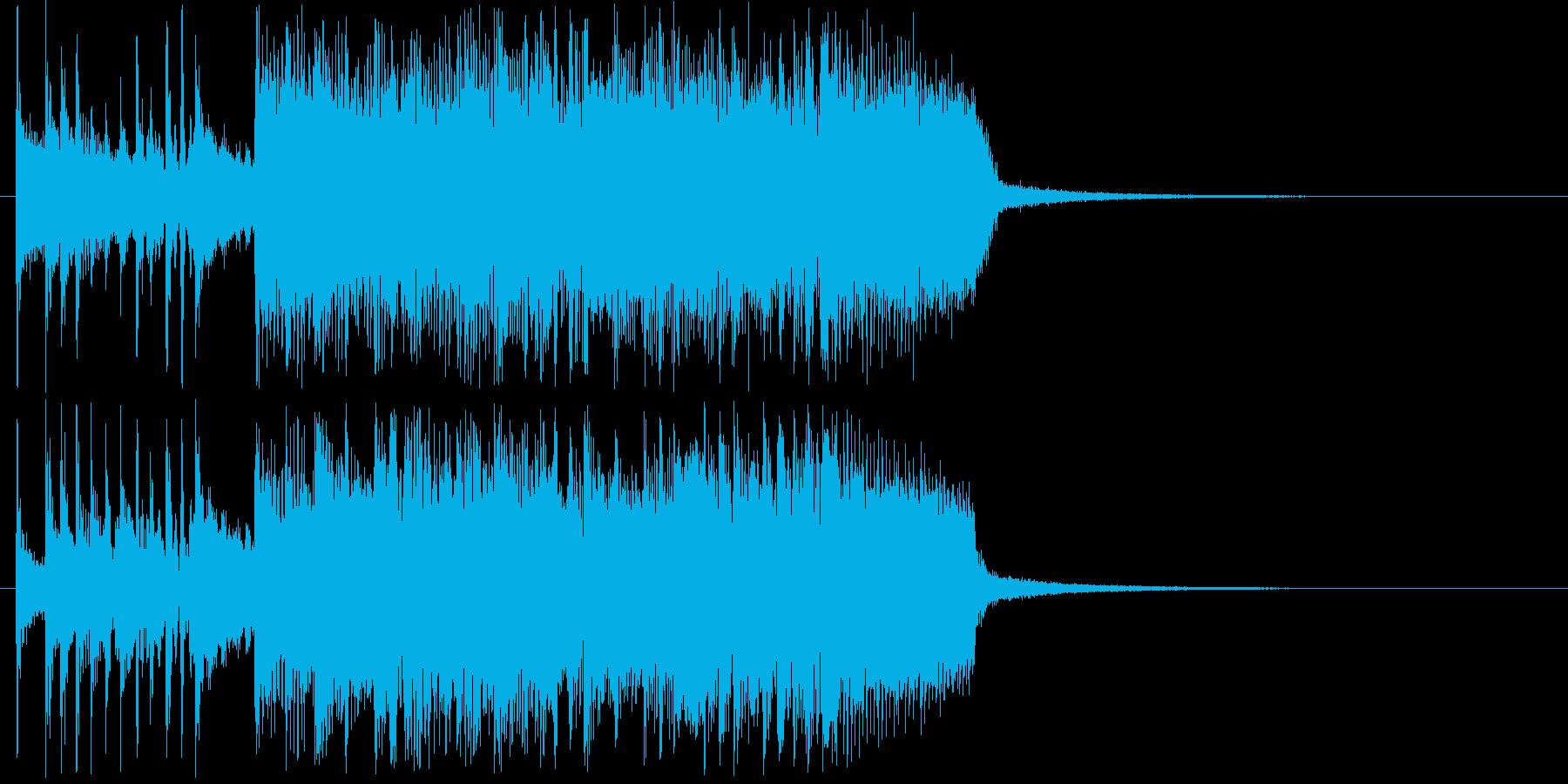 盛大なギターバンドジングル短めの再生済みの波形