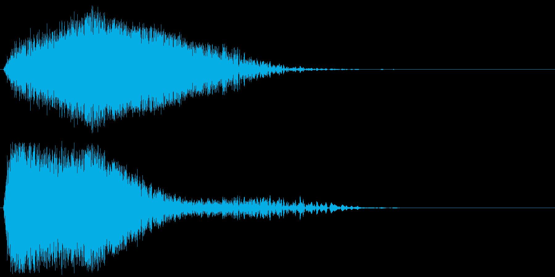 ひゅ~ん・ぴしゅ~んという感じの音ですの再生済みの波形