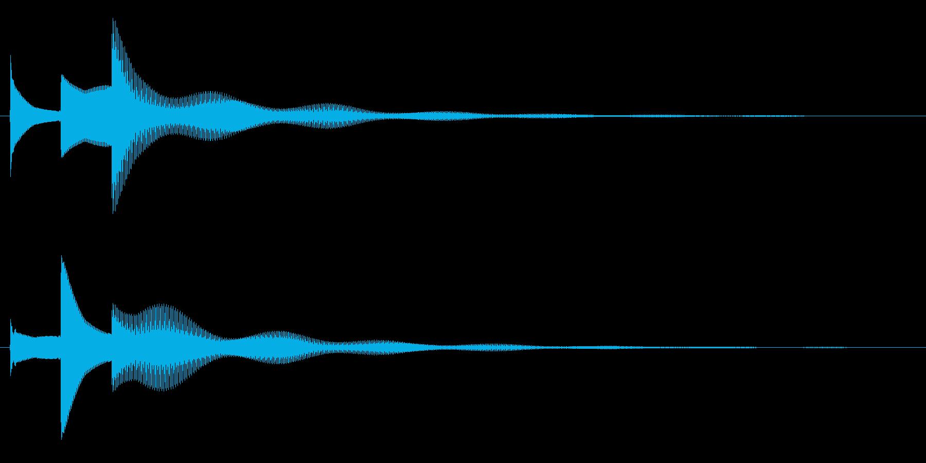 ぴん↑ぽん↑ぱーん↓の再生済みの波形