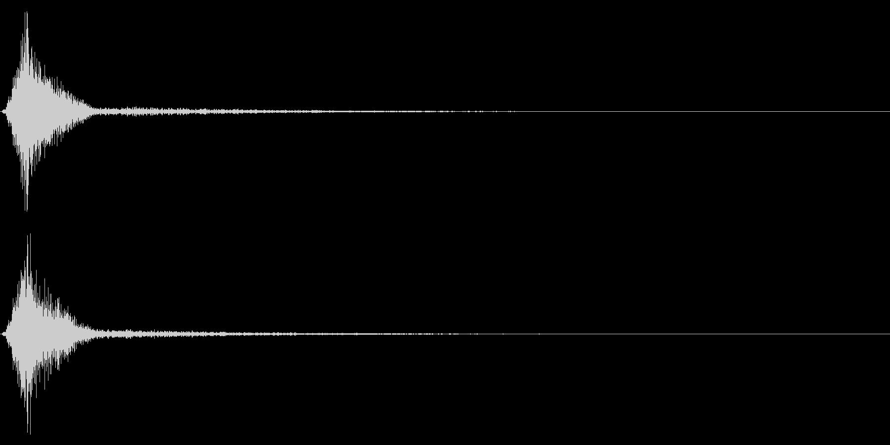 Ninjya 忍者 クナイ攻撃SE 9の未再生の波形