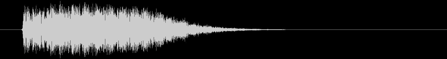コミカルな衝突やズッコケ音の未再生の波形