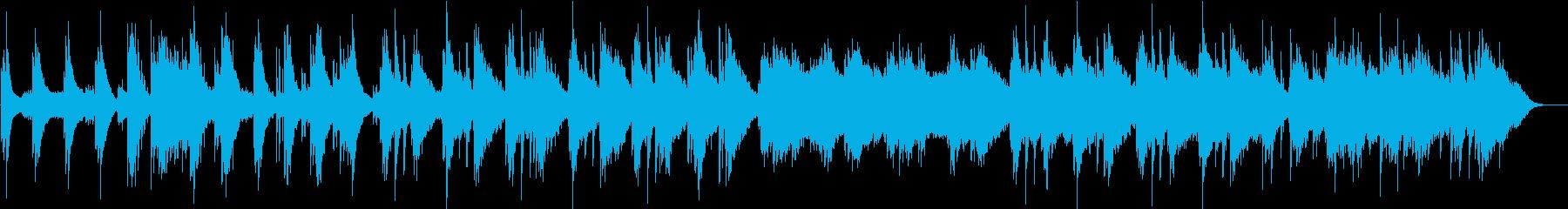 ピアノが静かに響くアンビエントの再生済みの波形