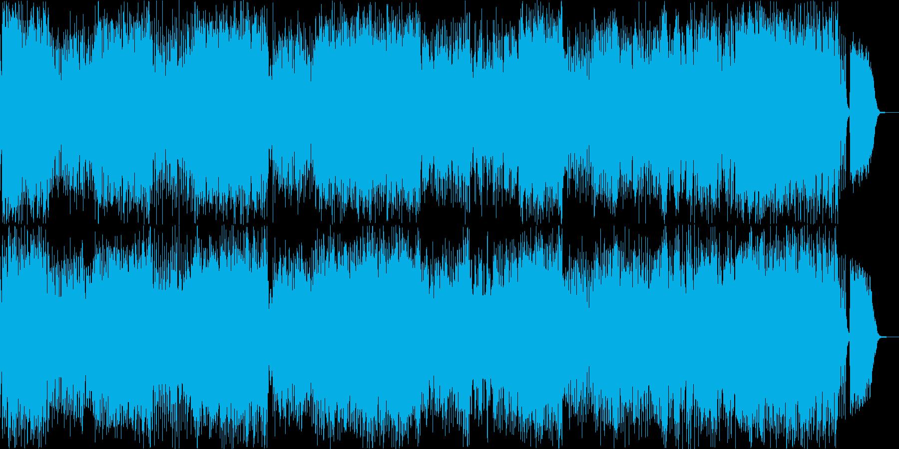 優雅で明るいジャズワルツのバイオリン曲の再生済みの波形
