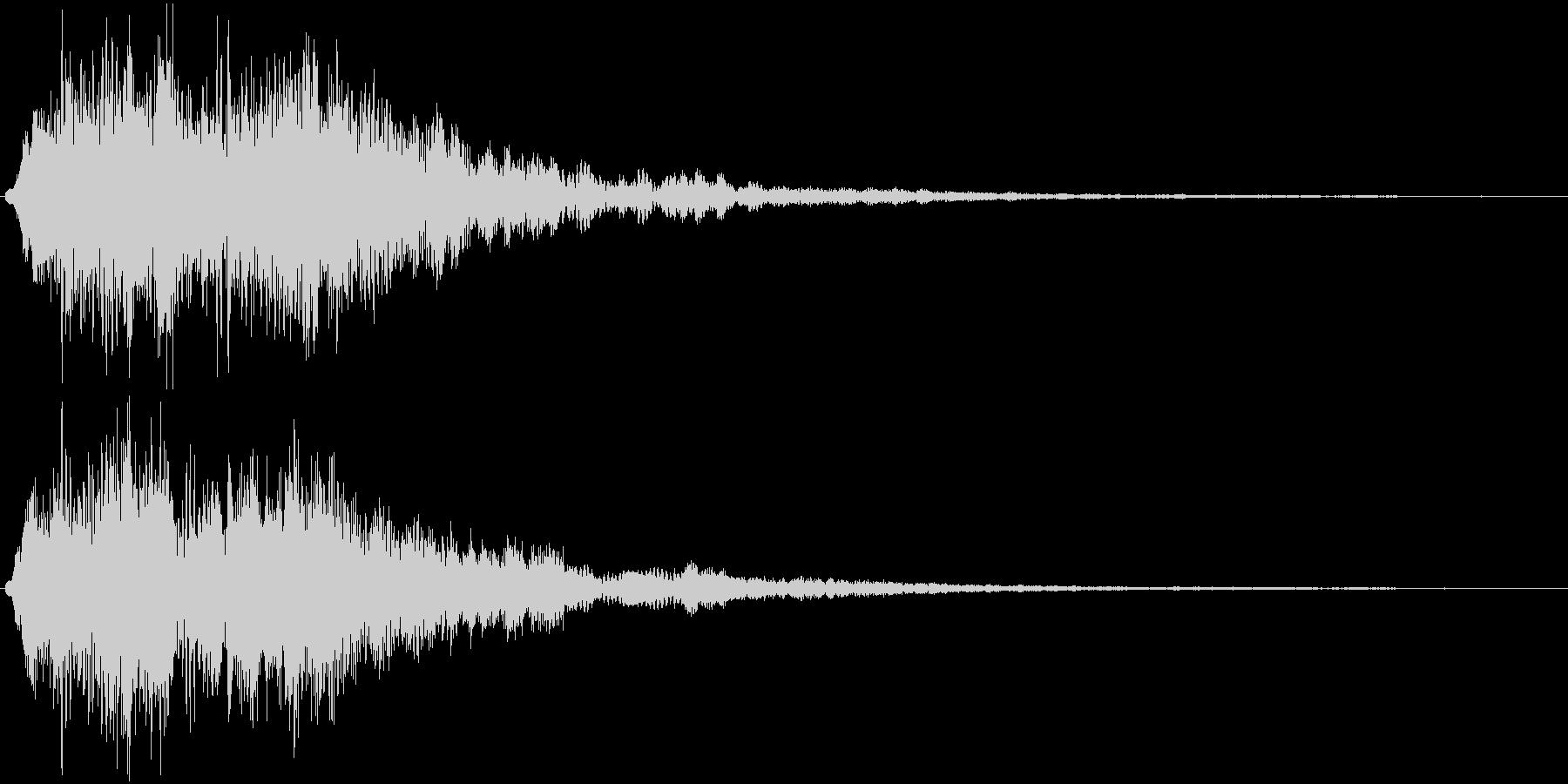 ワンワンワワワーン(サウンドロゴ)の未再生の波形