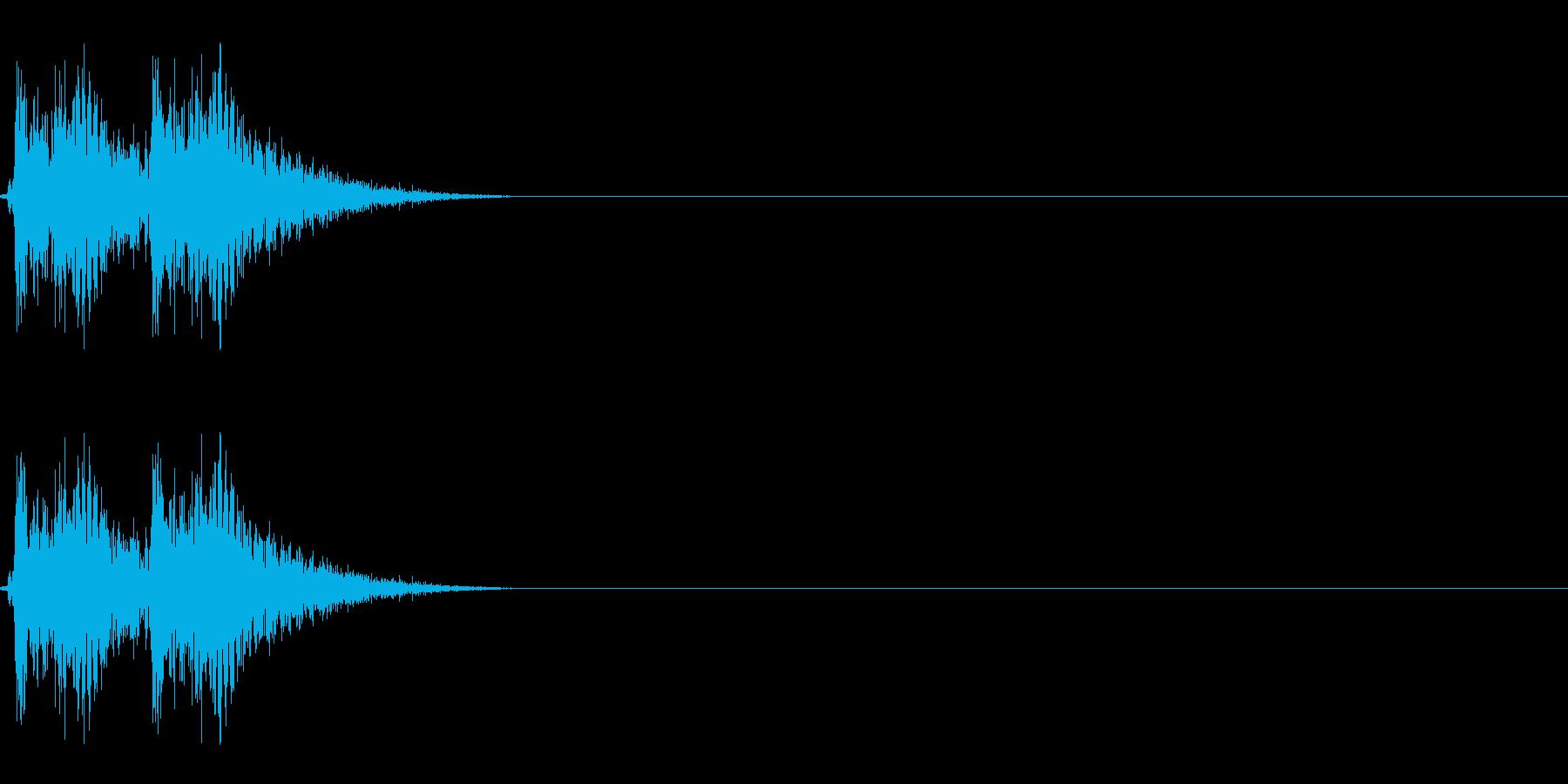 【打撃05-2】の再生済みの波形