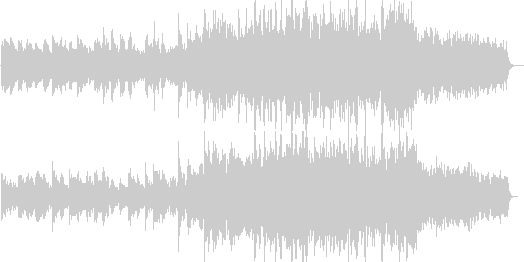 ピアノオーケストラ入場15秒曲の未再生の波形